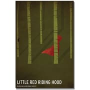 "Trademark Global Christian Jackson ""Red Riding Hood"" Canvas Art, 24"" x 16"""