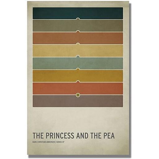 """Trademark Global Christian Jackson """"Princess and the Pea"""" Canvas Art, 47"""" x 30"""""""