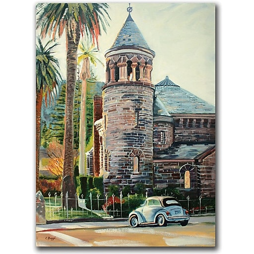 "Trademark Global Coleen Proppe ""Chappel"" Canvas Art, 24"" x 18"""