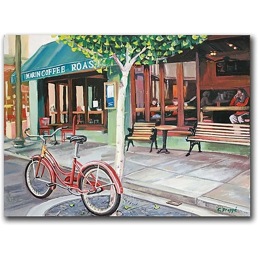 """Trademark Global Colleen Proppe """"Coffee Shop"""" Canvas Art, 26"""" x 32"""""""