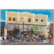 "Trademark Global Colleen Proppe ""Cyclists at Roasters"" Canvas Art, 16"" x 24"""