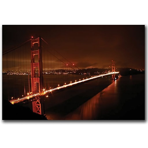 "Trademark Global Colleen Proppe ""Golden Gate I"" Canvas Art, 16"" x 24"""