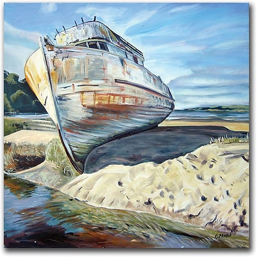 """Trademark Global Colleen Proppe """"Inverness Boat"""" Canvas Art, 35"""" x 35"""""""