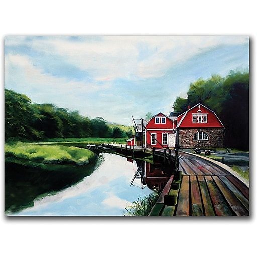 """Trademark Global Colleen Proppe """"The Boathouse"""" Canvas Art, 14"""" x 19"""""""