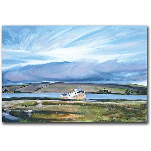 """Trademark Global Colleen Proppe """"Old Boat"""" Canvas Art, 16"""" x 24"""""""