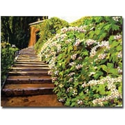 "Trademark Global David Glover ""Garden Stairway Tuscany"" Canvas Art, 24"" x 32"""