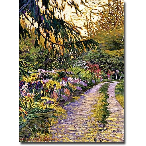 "Trademark Global David Lloyd Glover ""Sunset Road Impressions"" Canvas Art, 32"" x 24"""