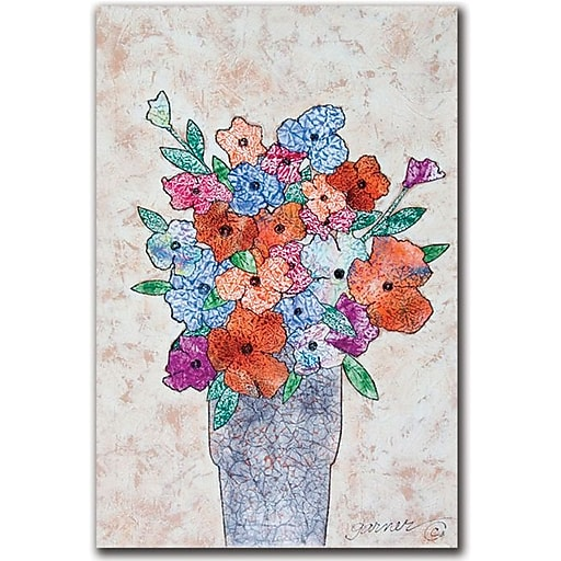 "Trademark Global Garner Lewis ""Flowers in Bloom"" Canvas Art, 24"" x 16"""