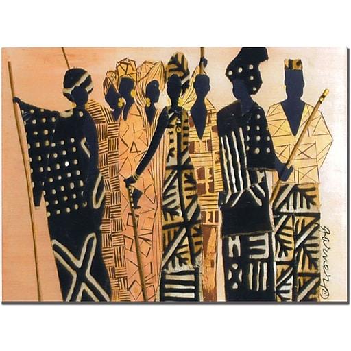 "Trademark Global Garner Lewis ""The Second Gathering"" Canvas Art, 14"" x 19"""