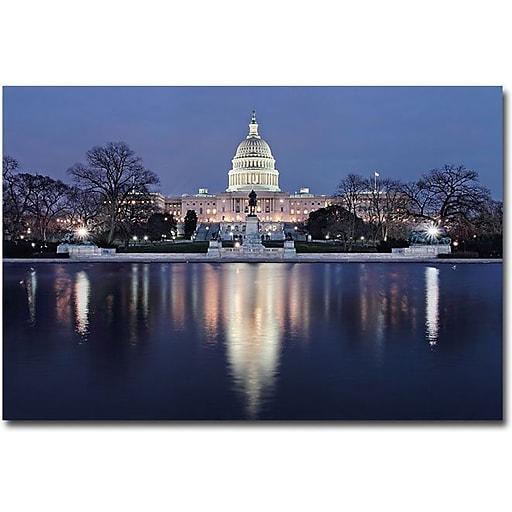 "Trademark Global Gregory Ohanlon ""Capitol Reflections"" Canvas Art, 16"" x 24"""