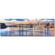 "Trademark Global Gregory Ohanlon ""Georgetown Waterfront"" Canvas Art, 8"" x 24"""