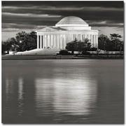 "Trademark Global Gregory Ohanlon ""Jefferson Memorial- Night"" Canvas Art, 18"" x 18"""