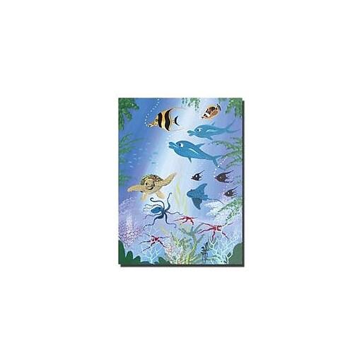 "Trademark Global Herbert Hofer ""Sea Turtle"" Canvas Art, 47"" x 35"""