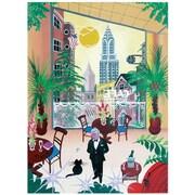 "Trademark Global Herbert Hofer ""Cafe New York"" Canvas Art, 32"" x 24"""