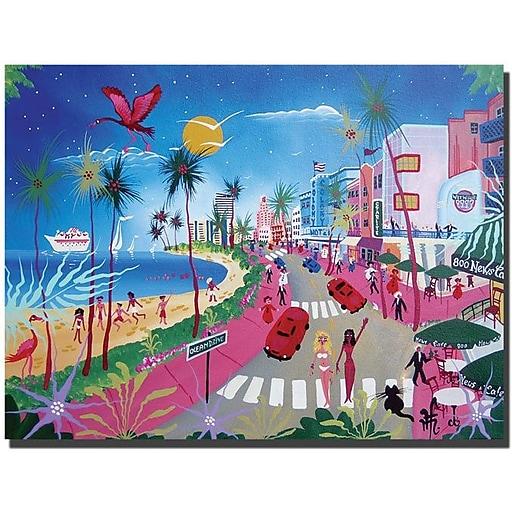 """Trademark Global Herbert Hofer """"Ocean Drive"""" Canvas Art, 18"""" x 24"""""""