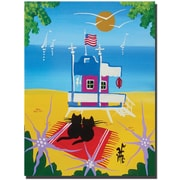"Trademark Global Herbert Hofer ""The Beach"" Canvas Art, 24"" x 18"""