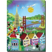 "Trademark Global Herbert Hofer ""San Francisco"" Canvas Art, 24"" x 18"""
