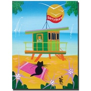 """Trademark Global Herbert Hofer """"Life Guard"""" Canvas Art, 32"""" x 24"""""""