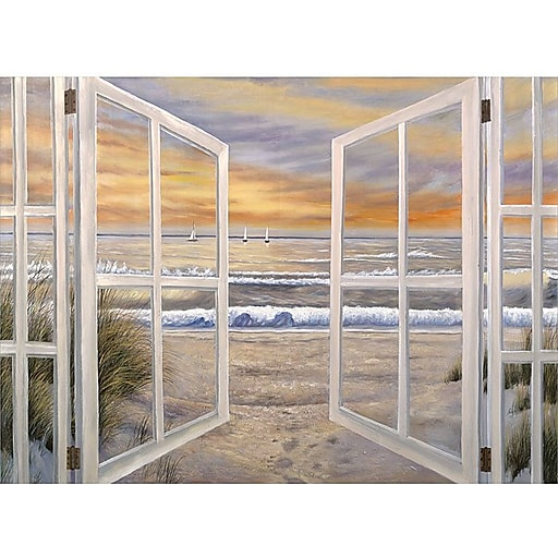 "Trademark Global Joval  ""Elongated Window On"" Canvas Art, 24"" x 32"""