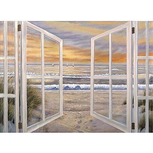 "Trademark Global Joval ""Elongated Window On"" Canvas Art, 18"" x 24"""