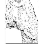 "Trademark Global Joe Dragunas ""Elephant"" Canvas Art, 24"" x 18"""