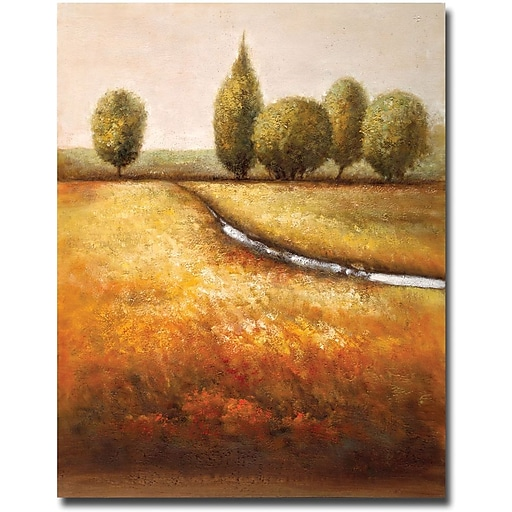 """Trademark Global Joval """"In the Country Triptych"""" Canvas Art, 19"""" x 14"""""""