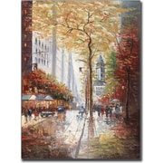 "Trademark Global Joval ""French Street Scene II"" Canvas Art, 24"" x 18"""