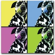 "Trademark Global ""Dalmatians "" Canvas Art, 24"" x 24"""