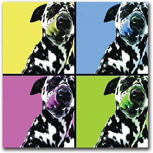 "Trademark Global ""Dalmatians "" Canvas Art, 24"" x 24"""