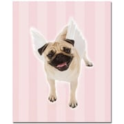 "Trademark Global ""Pug Angel"" Canvas Art, 32"" x 26"""