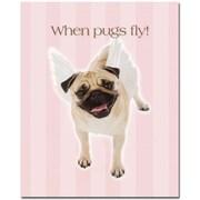 "Trademark Global ""When Pugs Fly"" Canvas Art, 32"" x 26"""
