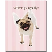 "Trademark Global ""When Pugs Fly"" Canvas Art, 32"" x 26"""