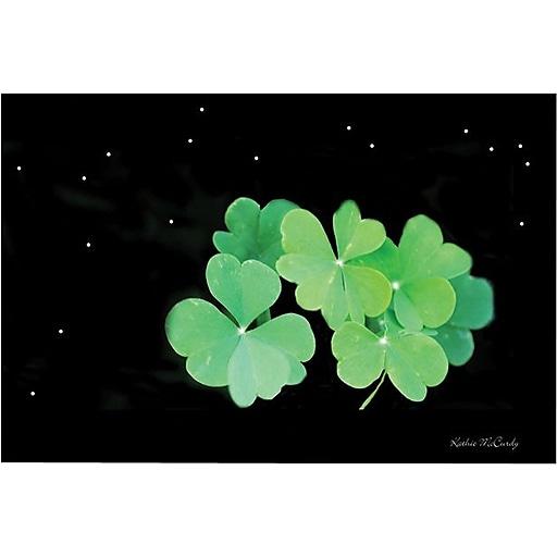 "Trademark Global Kathie McCurdy ""Starry Night Clover"" Canvas Art, 30"" x 47"""