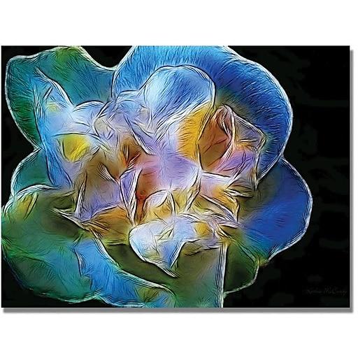"Trademark Global Kathie McCurdy ""Big Blue Flower"" Canvas Art, 35"" x 47"""