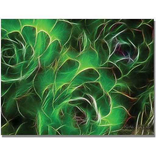 """Trademark Global Kathie McCurdy """"Hens and Chicks"""" Canvas Art, 35"""" x 47"""""""