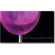 "Trademark Global Kathie McCurdy ""Pink Chardonney Glass"" Canvas Art, 24"" x 47"""