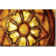"Trademark Global Kathie McCurdy ""Copper Metal Flower"" Canvas Art, 16"" x 24"""