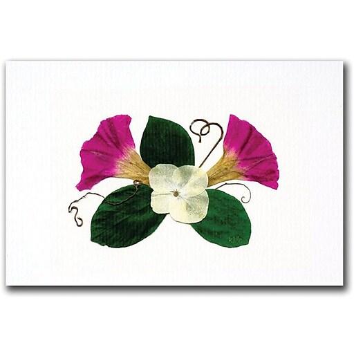 "Trademark Global Kathie McCurdy ""Scarlett O'Hara Morning Glory"" Canvas Art, 16"" x 24"""