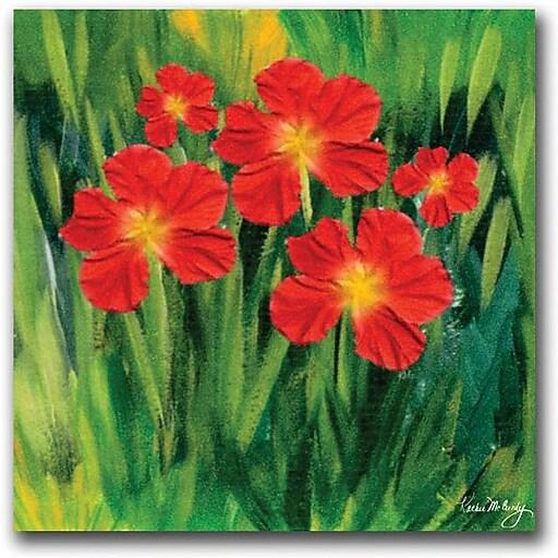 "Trademark Global Kathie McCurdy ""Entranced"" Canvas Art, 24"" x 24"""