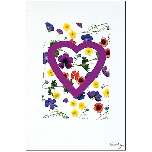 """Trademark Global Kathie McCurdy """"Little Blossoms"""" Canvas Art, 24"""" x 16"""""""
