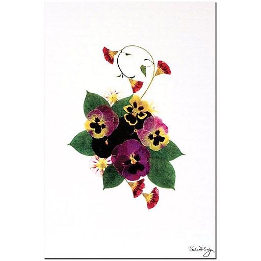 "Trademark Global Kathie McCurdy ""Frivolity"" Canvas Art, 24"" x 16"""