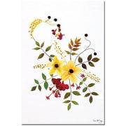 "Trademark Global Kathie McCurdy ""Enchanted Garden Splash"" Canvas Art, 24"" x 16"""