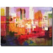 "Trademark Global Adam Kadmos ""City Colors"" Canvas Art, 18"" x 24"""