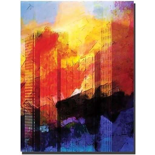 """Trademark Global Adam Kadmos """"Leopard"""" Canvas Art, 24"""" x 18"""""""