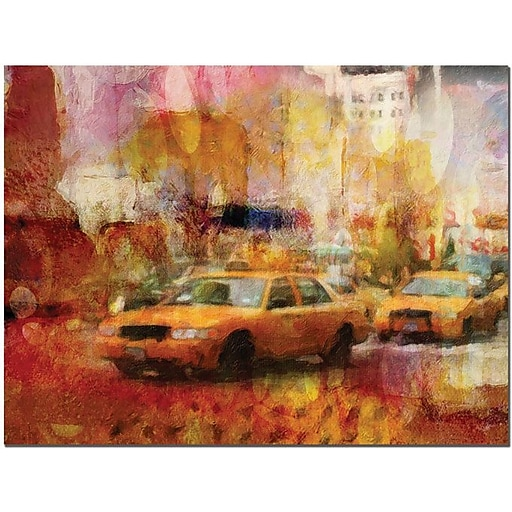 "Trademark Global Adam Kadmos ""City Impressions"" Canvas Art, 18"" x 24"""