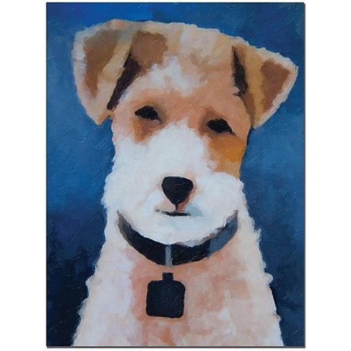 """Trademark Global Adam Kadmos """"Fox Terrier"""" Canvas Art, 24"""" x 18"""""""