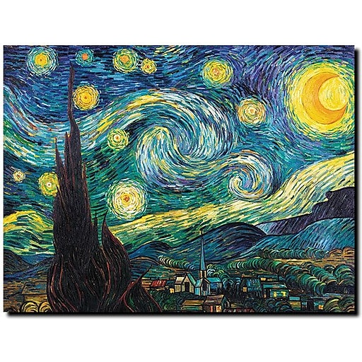 "Trademark Global Vincent van Gogh ""Starry Night"" Canvas Art, 18"" x 24"""