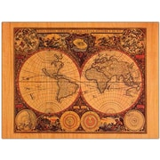 "Trademark Global Michelle Calkins ""World Map"" Canvas Art, 14"" x 19"""