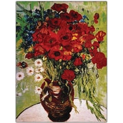 """Trademark Global Vincent Van Gogh """"Daisie & Poppies"""" Canvas Art, 18"""" x 24"""""""