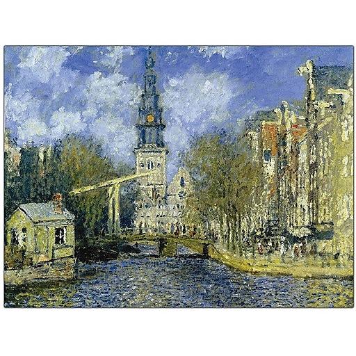 """Trademark Global Claude Monet """"The Zuiderkerk at Amsterdam"""" Canvas Art, 18"""" x 24"""""""